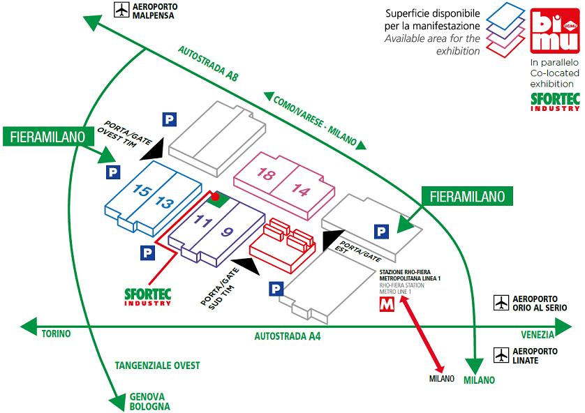 Mappa della fiera BIMU 2018