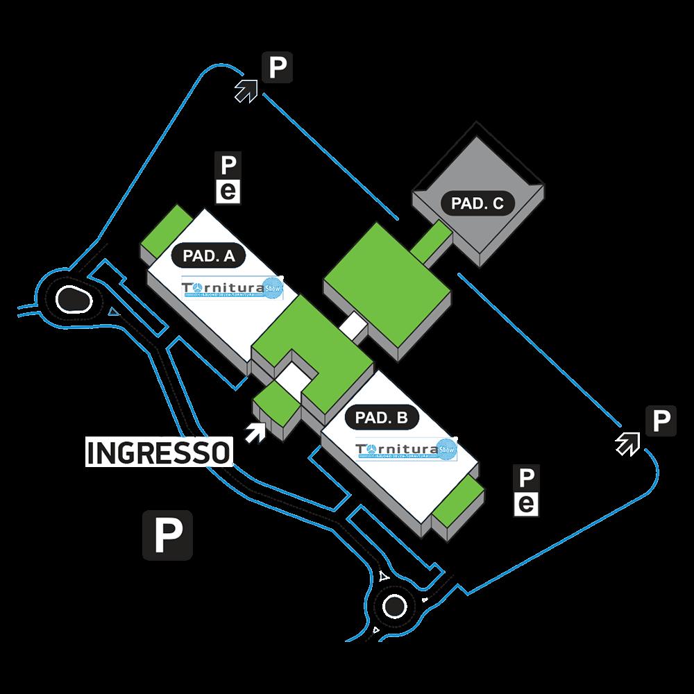 Mappa degli stand del tornitura show