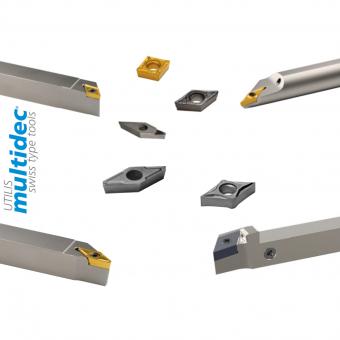 Utensili Utilis MULTIDEC ISO in metallo duro
